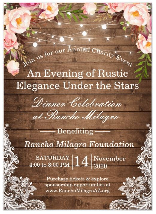 2020 Rancho Milagro Charity Event